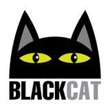 Svarta Cat Cartoon Vector Illustration stock illustrationer