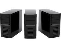 svarta datorer tre Royaltyfri Fotografi