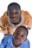 svarta deltagare Fotografering för Bildbyråer