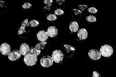 svarta diamanter för bakgrund Royaltyfria Foton
