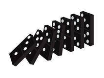 Svarta dominobrickaben Arkivbild