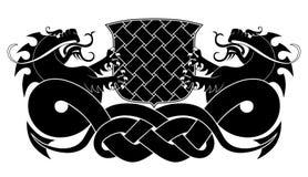 svarta drakar två Fotografering för Bildbyråer