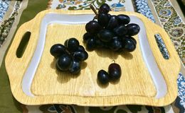 svarta druvor Royaltyfri Bild