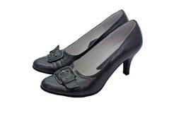 svarta eleganta skor Royaltyfri Bild