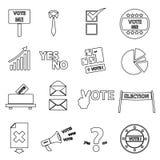 Svarta enkla översiktssymboler fastställd eps10 för val Arkivbild