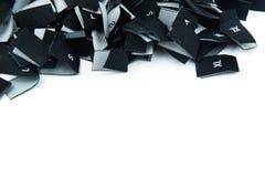 Svarta etiketter för tygklädformat Arkivbild
