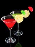 svarta exponeringsglas martini Arkivbild