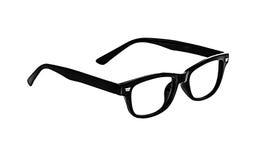 Svarta exponeringsglas på vit bakgrund, inget exponeringsglas Arkivbild