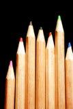 svarta färgblyertspennor för bakgrund Royaltyfri Bild