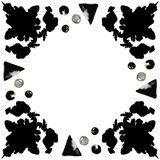 Svarta färgpulverfläckar 4 Arkivfoto