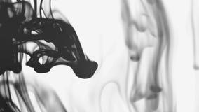 Svarta färgpulverflöden lager videofilmer