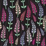 svarta färgrika blommor för bakgrund Royaltyfri Foto