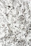 Svarta fläckar på vitboken som en textur Royaltyfria Foton