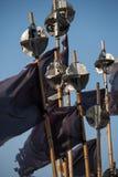 Svarta flaggor för fiskare` s Arkivbilder