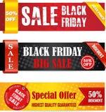 Svarta fredag försäljningsbaner Fotografering för Bildbyråer