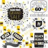 Svarta fredag försäljningsklotter Royaltyfria Foton