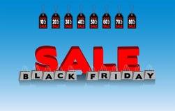 Svarta fredag shoppingpåsar och prislappar royaltyfri bild