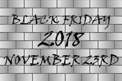Svarta fredag - svart och grå färger stock illustrationer