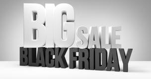 svarta friday Den svarta fredag försäljningen 3d framför Arkivbild
