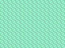 Svarta fyrkanter för Pattern_01_mint-bakgrund Royaltyfria Bilder
