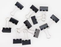 svarta gem grupperar paper white för metall Arkivfoto