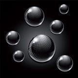 Svarta glass bollar