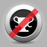 Svarta grå färger knäppas, den vita förböd symbolen för sportar koppen stock illustrationer