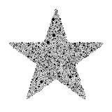 Svarta Grey Bubbles Star Random Dots Royaltyfri Bild