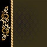svarta guldprydnadar för bakgrund Royaltyfri Foto