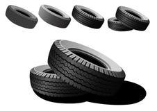 svarta gummihjul Fotografering för Bildbyråer