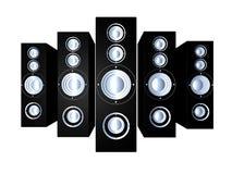svarta högtalare 1 Arkivbild