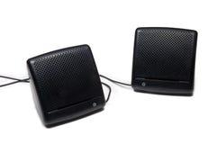 svarta högtalare Arkivbild