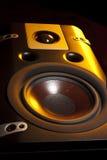 svarta högtalare Arkivbilder