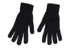 svarta handskar Arkivbild