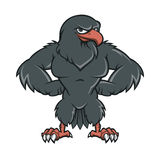 Svarta Hawk Cartoon royaltyfri illustrationer