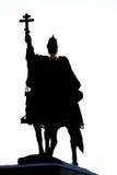Svarta Ivan den ruskiga monumentet i Orel, Ryssland med sunstars Arkivfoto