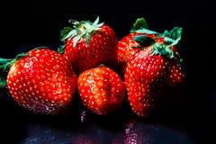 svarta jordgubbar Royaltyfri Bild
