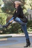 svarta kängor Royaltyfria Foton