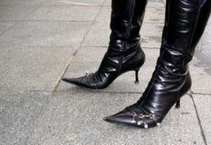 svarta kängor Royaltyfri Foto