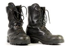 svarta kängor för armé Arkivbilder