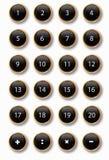 svarta knappar Arkivbild