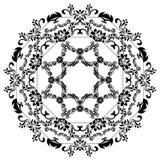 Svarta konturer för calligraphic design Vektorramar som isoleras på vit Meny- och inbjudandesignbeståndsdel Arkivfoton