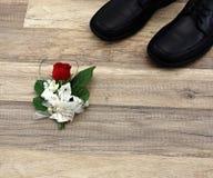 svarta läderskor Royaltyfri Bild