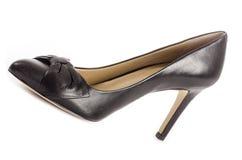 Svarta läderstiletter #2 royaltyfria foton
