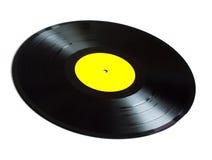 Svarta lång-lek vinylrekord isolerade closeupen Fotografering för Bildbyråer