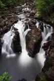 Svarta Linn Waterfall Fotografering för Bildbyråer