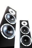 Svarta ljudsignala högtalare Royaltyfria Bilder