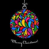 svarta ljusa julelement för boll stock illustrationer