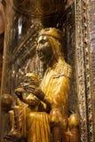 Svarta Madonna av Montserrat i Montserrat Monastery barcelona spain Arkivfoton