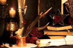 Svarta magiska pass Verkliga svarta magiska pass med faktiskt obegränsad makt gjuter för dig: När andra magi eller wiccan pass ha Arkivfoto